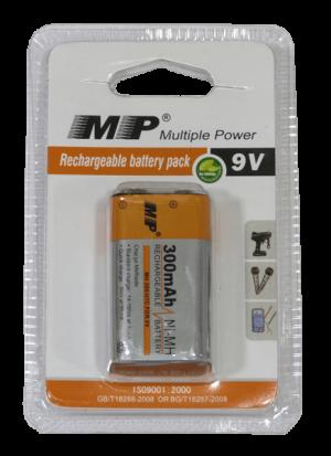 bateria recargable MP 9V