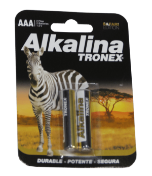 baterias alkalinas TRONEX tipo AAA