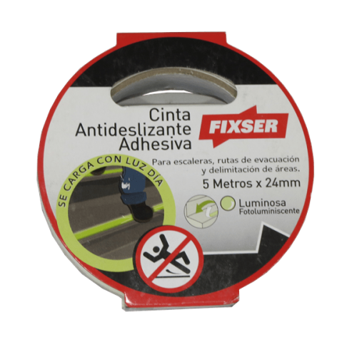 cinta antideslizante adhesiva luminosa FIXSER