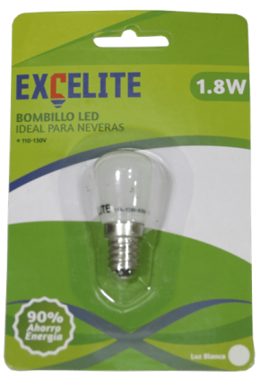 BOMBILLO LED nevera 1,8W EXCELITE