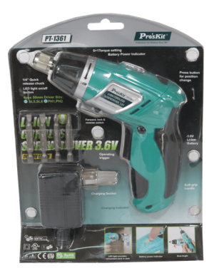 destornillador inhalambrico ProsKit PT-1361